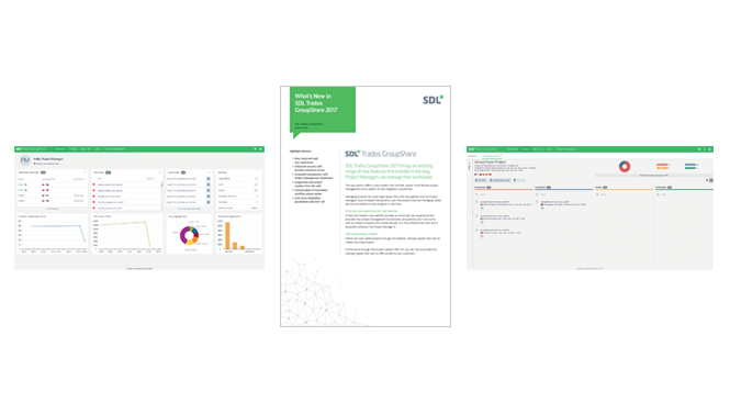 SDL Trados Groupshare 2017 - What's New Brief